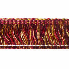Aria 40mm Cut Ruche Colour Chinese Red [10 METRE LOT BUY]