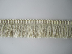 Embellish 40mm Cut Ruche, Colour 1 White Dove