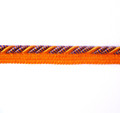 Bagdad 8mm Flange Cord, Colour 7 Orange/ Purple