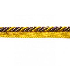 Bagdad 8mm Flange Cord, Colour 1 Purple/ Citrus Gold