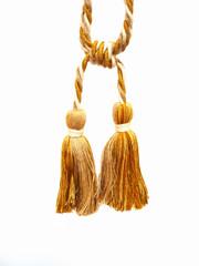 Josephine Tieback Double Tassel, Colour 3 Hessian/ Gold