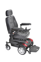 "Titan Transportable Front Wheel Power Wheelchair, Full Back Captain's Seat, 18"" x 18"""