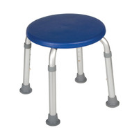 Adjustable Height Bath Stool, Blue