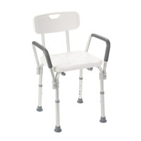 Bath Bench with Padded Arms and Backrest