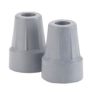 "Forearm Crutch Tip 5/8"", Gray, Pair, Retail Box"
