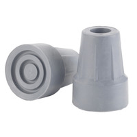 "Forearm Crutch Tip 5/8"", Gray, Pair, Blister Pack"