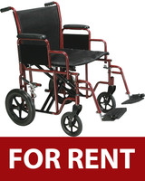 Bariatric Heavy Duty Transport Wheelchair FOR RENT
