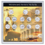 "Frosted 6.5"" x 6.5"" Case for 2004-2006 Commemorative Nickels (13 Holes)"