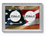 """Frosted 2"""" x 3"""" Case for State Quarters P&D (2 Holes)"""