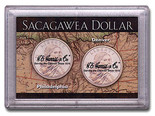 "Frosted 2"" x 3"" Case for Sacagawea Dollars (2 Holes)"