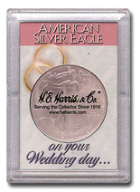 "Frosted 2"" x 3"" Case for American Silver Eagle Dollars: Wedding day"