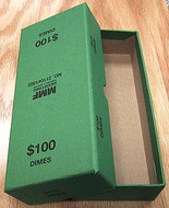 Box for rolled Dimes -Green