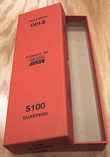 Box for rolled Quarters -Orange