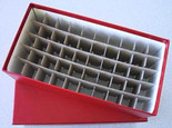 Box for Cent Tubes-Red-Holds 50 Tubes
