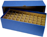 Box for Nickel Tubes-Blue-Holds 50 Tubes