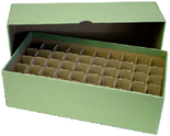 Box for Dime Tubes-Light Green-Holds 50 Tubes