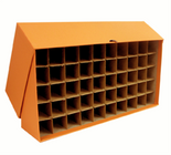 Box for Quarter Tubes-Orange-Holds 50 Tubes