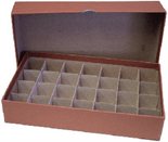 Box for Half Dollar Tubes-Brown-Holds 28 Tubes