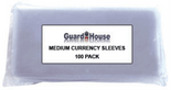 Guardhouse Sleeves for Medium Currency - Pack of 100