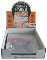 SuperSafe 2 Pocket Currency Pages-Archival- Pack of 100