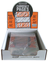 SuperSafe 4 Pocket Currency Pages-Archival- Pack of 100