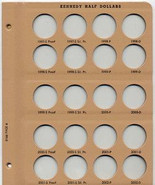 Dansco Album-Supplemental Page 8 2007-2012 P,D&S for #8166 Kennedy Half Dollars with Proofs