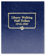 Whitman Album #9125 - Liberty Walking Half Dollars  1916-1947