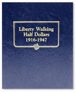 Whitman Album #9125 - Liberty Walking Half Dollars  1916-1947