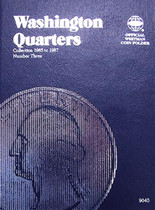 Whitman Folder- Washington Quarters #3- 1965-1987