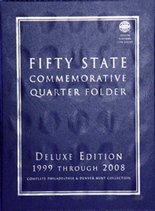Whitman Folder- Fifty State Commemorative Quarter Folder 1999-2009 P&D-Deluxe Edition