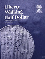 Whitman Folder- Liberty Walking Half Dollars #1-1916-1936
