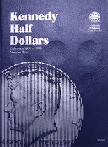 Whitman Folder- Kennedy Half Dollars #2- 1986-2003