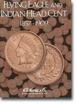 H.E. Harris Folder: Flying Eagle and Indian Head Cents 1857-1909