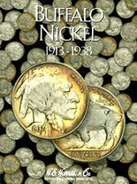 H.E. Harris Folder: Buffalo Nickels 1913-1938
