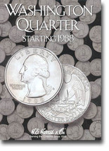 H.E. Harris Folder: Washington Quarters #4 1988-1998