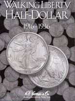 H.E. Harris Folder: Walking Liberty Half Dollar #1 1916-1936