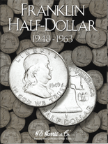 H.E. Harris Folder: Franklin Half Dollars 1948-1963