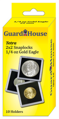 Guardhouse 2x2 Tetra Snaplock for One Quarter Oz Gold Eagle - Pack of 10