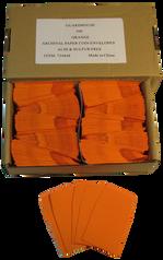 Archival Paper Coin Envelopes - Orange -Pack of 500