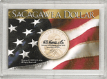 "Frosted 2"" x 3"" Case for Sacagawea Dollars (1 Hole)"