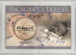 "Frosted 2"" x 3"" Case for Sacagawea Dollars: It's a Boy!"