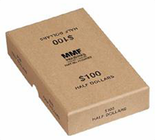 Box for rolled Half Dollars -Buff