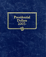 Whitman Album #2183 - Presidential Dollars 2007- Date -Single Mint