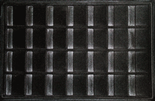 Vertical Display Tray for 2x2s - Black