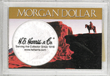 """Frosted 2"""" x 3"""" Case for Morgan Dollars (1 hole)"""