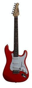 CORBIN EGT100RD  CST SERIES ELECTRIC GUITAR WITH TREMOLO