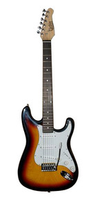 Corbin CST Series Electric Guiitar with 3 pickups and tremolo (SB)
