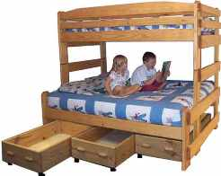 Twin over Full Bunk Bed Picture with Kids