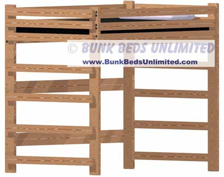 Loft Or Bunk Bed Plan Full Size Tall Height