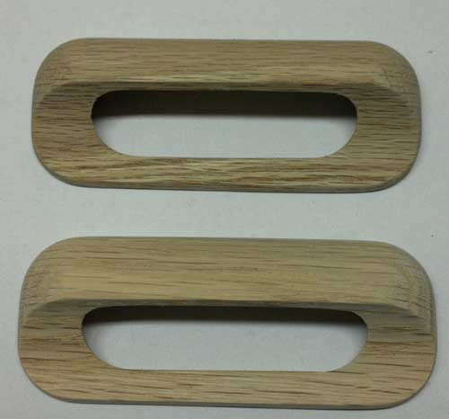 Drawer Handle Pulls Solid Oak Wooden Set Of 4 With